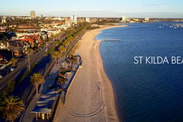 St Kilda Beach Drone 4K