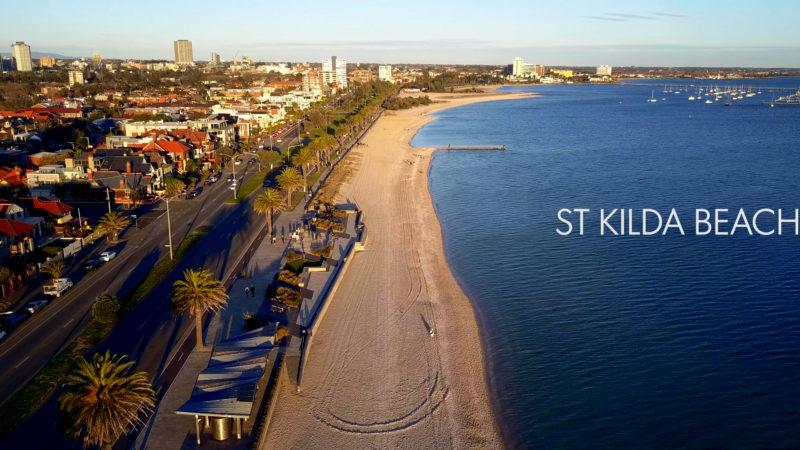 St Kilda Beach 4K Drone Footage