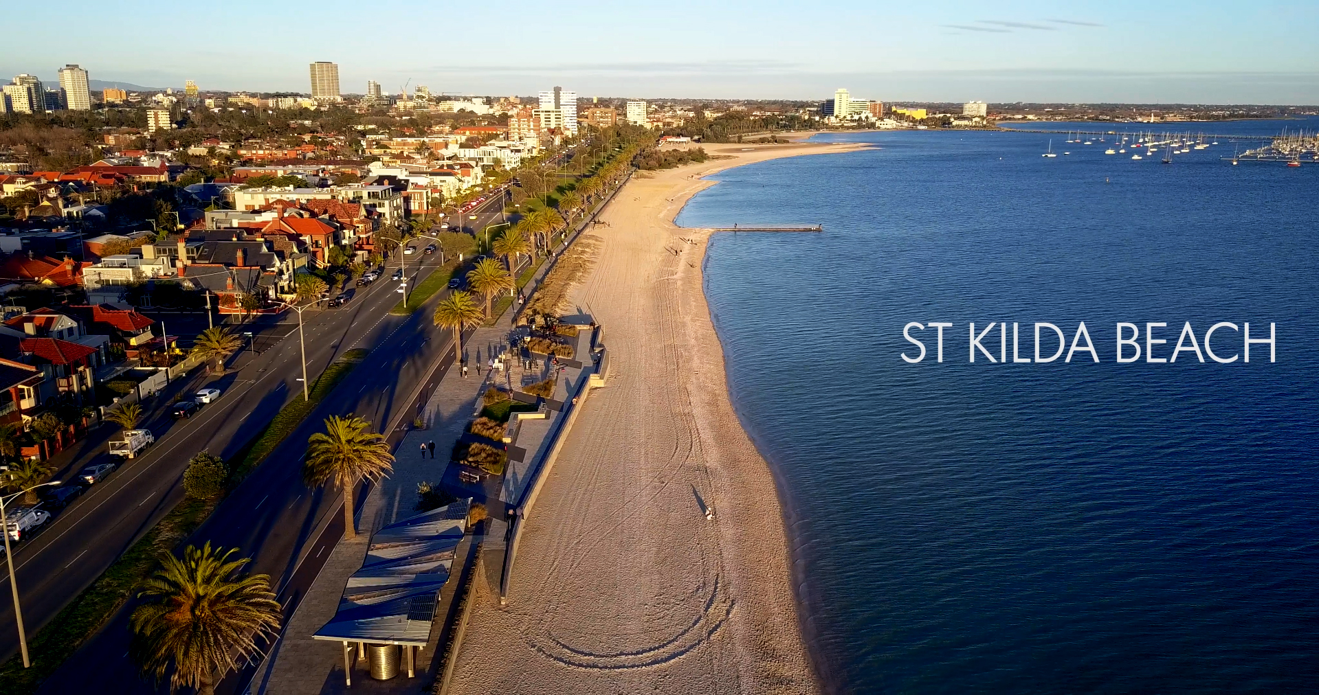 St Kilda Beach 4k Drone Footage Alex Shoolman