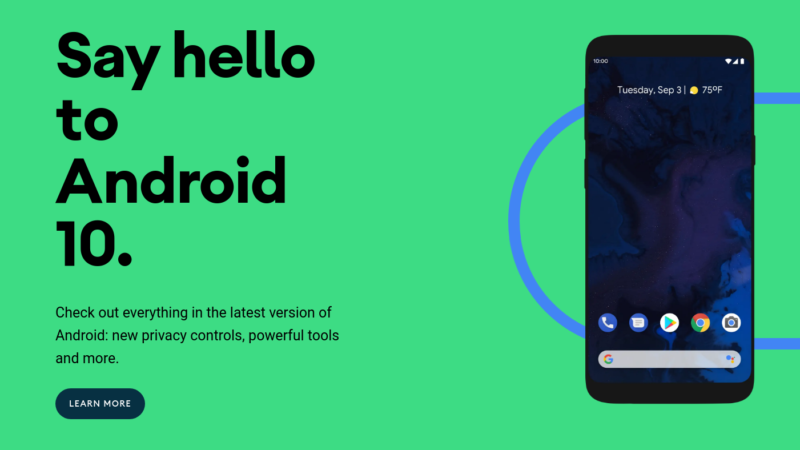 Google Dropped Android 10!
